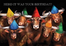 Herd Is The Word Birthday Cards